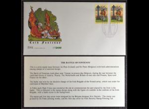 Belgien Irland FDC Schlacht von Fontenoy Gemeinschaftsausgabe Joint Issue 1995