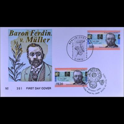 Deutschland Nr. 1889 Australien Kombi FDC Gemeinschaftsausgabe Joint Issues 1996