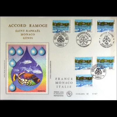 Frankreich MiNr. 3151 Italien Kombi FDC Gemeinschaftsausgabe Joint Issue 1996
