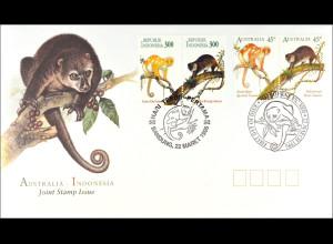 Australien Indonesien Kombi FDC Kuskuse Gemeinschaftsausgabe Joint Issue 1996