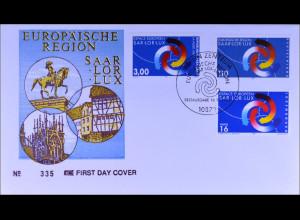 Deutschland MiNr. 1957 Kombi FDC Europäische Region Saar-Lor-Lux Joint Issue