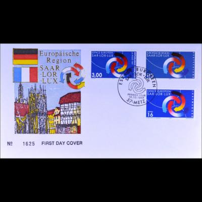 Frankreich MiNr. 3252 Kombi FDC Europäische Region Saar-Lor-Lux Joint Issue