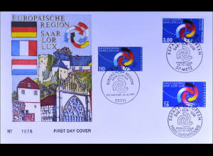 Bund Frankreich Luxemburg Kombi FDC Europäische Region Saar-Lor-Lux Joint Issue