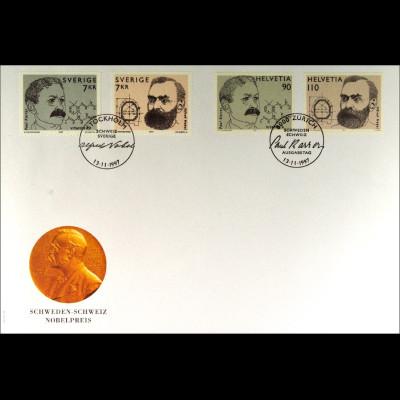 Schweiz MiNr. 1623-24 Schweden Kombi FDC Gemeinschaftsausgabe Joint Issue 1997