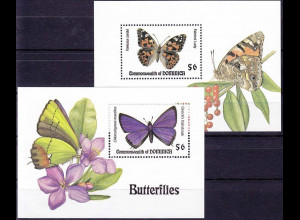 Dominica Block 262-263 Jahr 1994 Schmetterling, Schmetterlinge