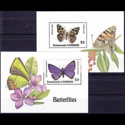 Dominica Block 262-263 Jahr 1994 Schmetterling, Schmetterlinge