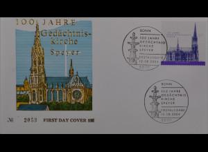 BRD Ersttagsbrief FDC Michel Nr. 2415 100 Jahre Gedächtniskirche Speyer