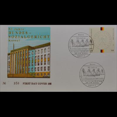 BRD Ersttagsbrief FDC Michel Nr. 2422 50 Jahre Bundessozialgericht