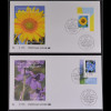 Bund BRD Ersttagsbrief FDC Michel Nr. 2434-35 Freimarken Blumen