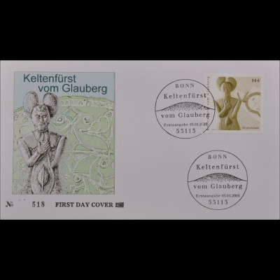 BRD Ersttagsbrief FDC Michel Nr. 2436 Archäologie in Deutschland (II)