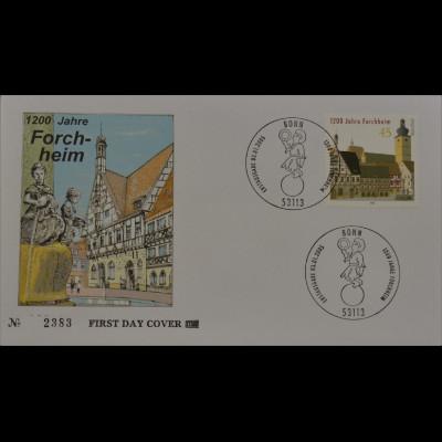 Bund BRD Ersttagsbrief FDC Michel Nr. 2438 1200 Jahre Forchheim