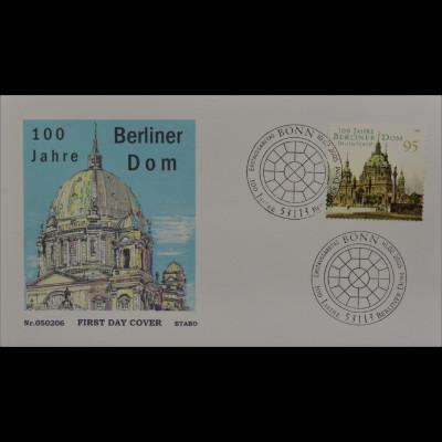 Bund BRD Ersttagsbrief FDC Michel Nr. 2445 100 Jahre Berliner Dom