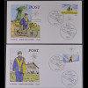 BRD Ersttagsbrief FDC Michel Nr. 2447-48 Post Briefzustellung in Deutschland