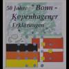 BRD Ersttagsbrief FDC Michel Nr. 2449 50 Jahre Bonn-Kopenhagener Erklärungen