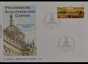 Bund BRD Ersttagsbrief FDC MiNr. 2476 Preußische Schlösser und Gärten