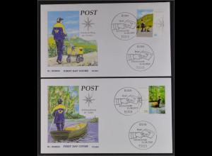 BRD Ersttagsbrief FDC MiNr. 2481-82 Post Briefzustellung in Deutschland