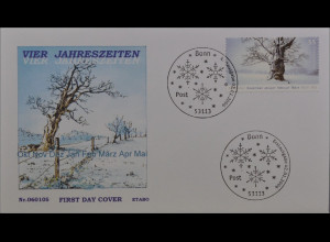 Bund BRD Ersttagsbrief FDC Michel Nr. 2509 Post Winter