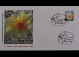 Bund BRD Ersttagsbrief FDC Michel Nr. 2515 Freimarken Blumen Narzisse