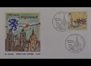Bund BRD Ersttagsbrief FDC Michel Nr. 2526 1200 Jahre Ingolstadt