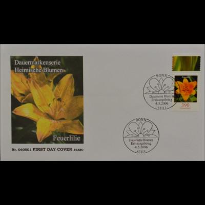 Bund BRD Ersttagsbrief FDC Michel Nr. 2534 Freimarke Blumen Feuerlilie
