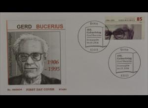 BRD Ersttagsbrief FDC Michel Nr. 2538 100. Geburtstag von Gerd Bucerius