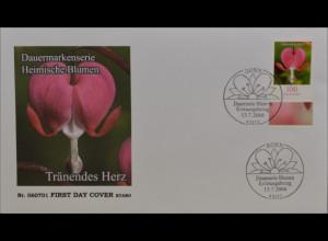 BRD Ersttagsbrief FDC Michel Nr. 2547 Freimarke Blumen Tränendes Herz