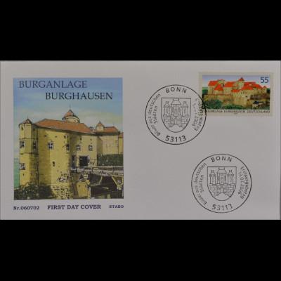 BRD Ersttagsbrief FDC MiNr. 2548 Bilder aus deutschen Städten Burg Burghausen