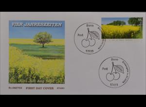 BRD Ersttagsbrief FDC Michel Nr. 2549 Post Sommer Blühendes Rapsfeld