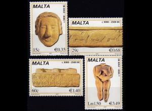 Malta 2007 Mi.-Nr. 1488-91 Prähistorische Kunst Sandsteinfries Frauenfigur