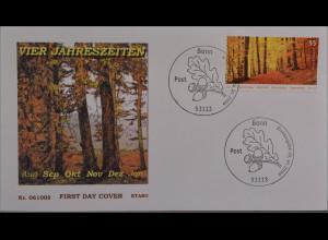Bund BRD Ersttagsbrief FDC Michel Nr. 2564 Post Herbst Buchenwald