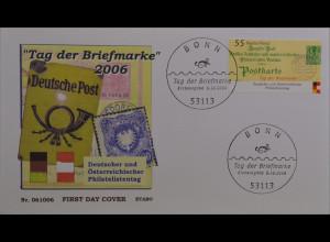 BRD Ersttagsbrief FDC MiNr. 2565 Tag der Briefmarke Philatelistentag