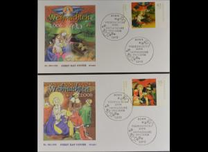Bund BRD Ersttagsbrief FDC Michel Nr. 2569-70 Weihnachten Gemälde