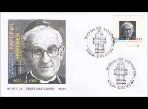 BRD Ersttagsbrief FDC Michel Nr. 2572 100. Geburtstag Joseph Kardinal Höffner
