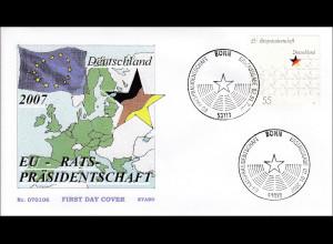 BRD Ersttagsbrief FDC MiNr. 2583 Vorsitz Deutschlands in der Europäischen Union