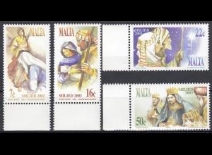 Malta 2003 Michel Nr. 1310-13 Weihnachten Mariä Verkündung