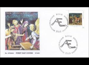 BRD Ersttagsbrief FDC Michel Nr. 2591 Deutsche Malerei Adam Elsheimer