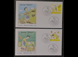 Bund BRD Ersttagsbrief FDC Michel Nr. 2596-97 Post Bildergeschichte