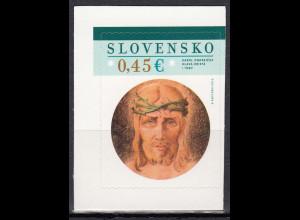 Slowakei 2015, Michel Nr. 758, Ostern – Gemälde von Karol Ondreicka aus MH