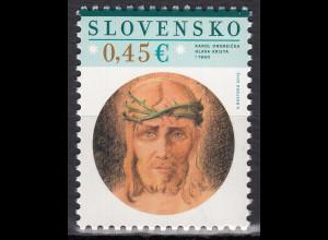 Slowakei Slovensko 2015, Michel Nr. 757, Ostern – Gemälde von Karol Ondreicka