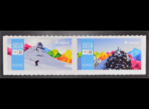Norwegen Norway 2016 MiNr. 1901-02 Olympische Jugend Winterspiele Lillehammer