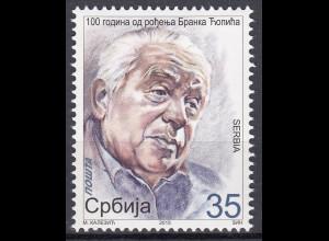 Serbien Serbia 2015 Michel Nr. 588 100. Geburtstag von Branko Copic