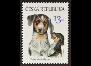 Tschechische Republik 2016 Michel Nr. 873 süße Hunde auf einer tollen Briefmarke