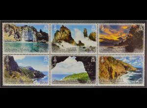 Pitcairn Pitcairn Islands 2016 Michel Nr. 957-62 Ansichten Bounty Bay Adamstown