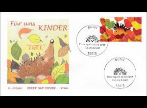 Bund BRD Ersttagsbrief FDC Michel Nr. 2619 Für uns Kinder
