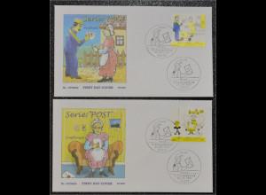 Bund BRD Ersttagsbrief FDC Michel Nr. 2620-21 Post Bildergeschichte