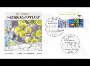 Bund BRD Ersttagsbrief FDC Michel Nr. 2622 50 Jahre Wissenschaftsrat