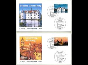BRD Ersttagsbrief FDC Mi.-Nr. 2972-73 Burgen und Schlösser 2013