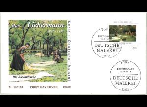 BRD Ersttagsbrief FDC Mi.Nr. 2974 Deutsche Malerei Max Liebermann 2013