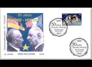 BRD Ersttagsbrief FDC Michel Nr. 2977 50 Jahre Elysée Vertrag 2013