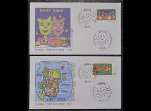BRD Ersttagsbrief FDC Michel Nr. 2644-45 Post Grußmarken Alles Gute Glückwunsch